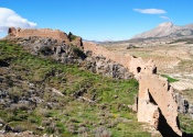 View of the Xiquena fortress who marks the place of the old frontier between the nasrid kingdom of Grenade and the christian kingdom of Murcia. day 3. Author: Alex Rodier