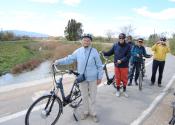 El carril-bici nos permitirá volver hasta la ciudad de Murcia siguiendo el río Segura. Autor: Alex Rodier