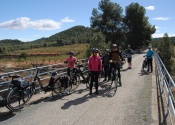 Cycling on the Vía Verde del Noroeste, towards Caravaca.