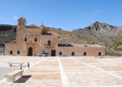 Sanctuary of the Virgen del Saliente, highlight of the last day of cycling. Day 6. Author: Alex Rodier