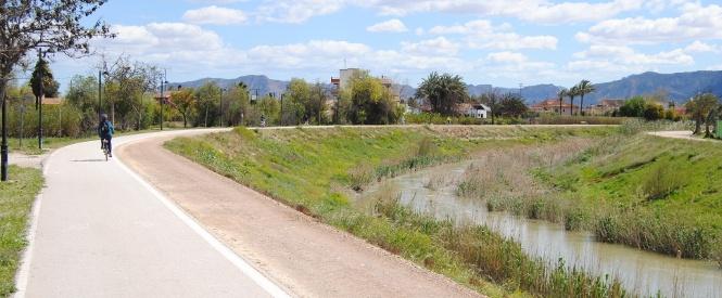 Carril bici del río Segura, hilo conductor de nuestra ruta.