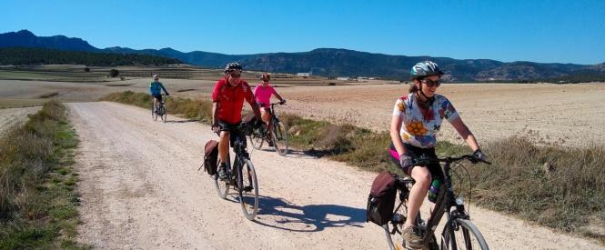 La Voie Verte des Pélerins à vélo, de Murcia à Caravaca de la Cruz.
