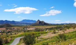 Paisaje de la fortaleza de Xiquena en Lorca