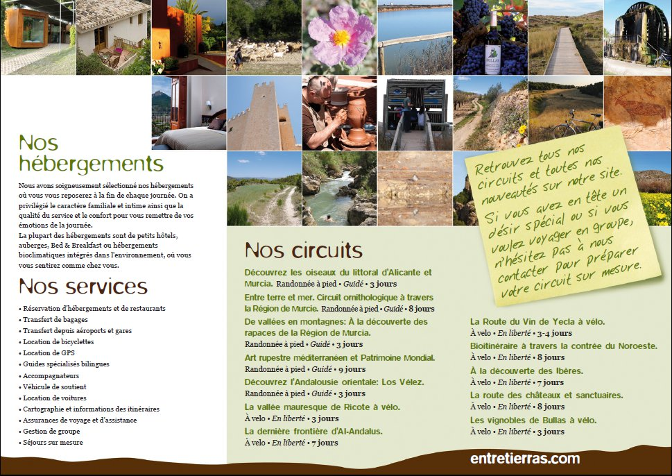 Verso english flyer from EntreTierras